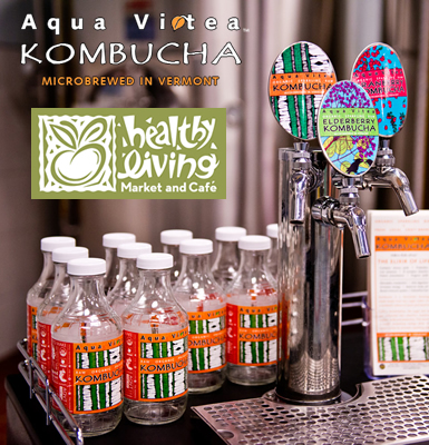 Aqua Vitea Kombucha Growler & Fill at Healthy Living Market & Café!